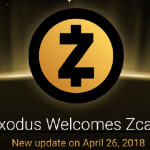 Exodus добавил Zcash