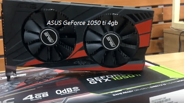 ASUS GeForce 1050 ti 4gb ZCash