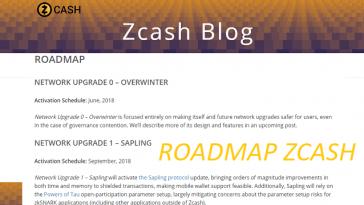дорожная карта Zcash 2018